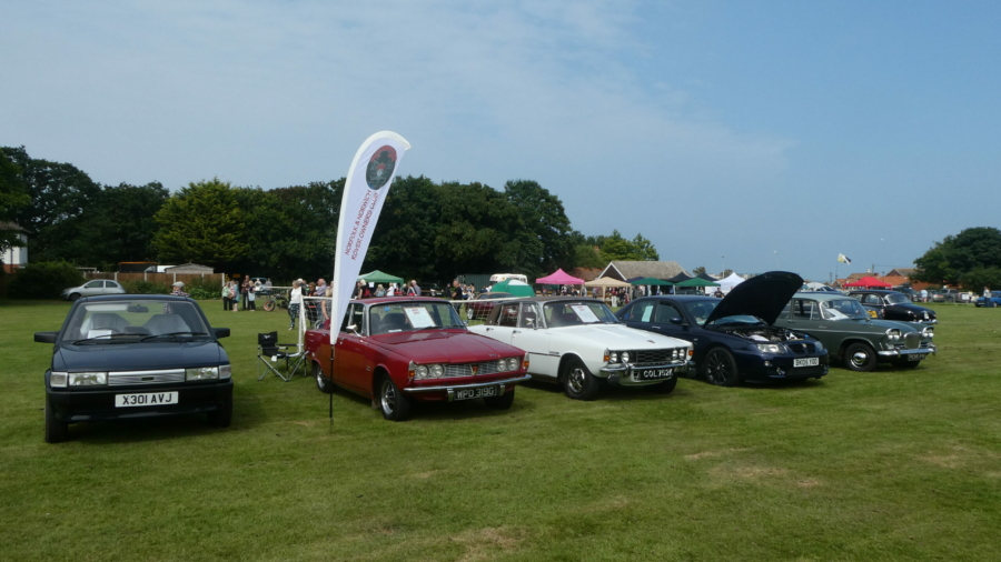 Club stand at Mundesley Car Show